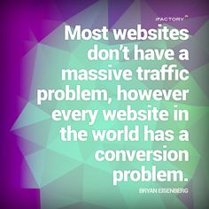 Most websites don't have a massive traffic problem, however every website in the world has a conversion problem. What Is Landing Page, Statistics, Mind Blown, Seo, Mindfulness, Facts, Website, Learning, Teaching