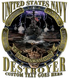 USS Gravely First Class Petty Officer Mess Military T-Shirts from Vision-Strike-Wear. This time the combat is on the diamond and instead of naval gunfire its gonna be the smacking of a baseball! Navy Day, Go Navy, Gifts For Brother, Gifts For Dad, Tin Can Sailors, Us Navy Shirts, Military Memorabilia, Navy Military, Military Shirt