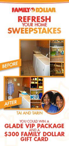 FAMILY DOLLAR REFRESH YOUR HOME SWEEPSTAKES VIA: http://contest.acmconnect.com/c/pin/cncmxcvwashz