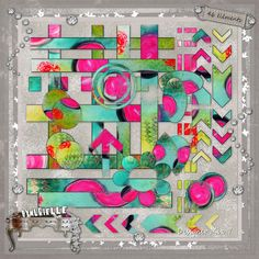 crea Diy Craft Projects, Diy Crafts, Neon Colors, Different Shapes, Digital Scrapbooking, Craft Supplies, Chevron, Hand Painted, Quilts