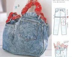 """Bags in boho style. Part Jeans """"disgrace"""" or indigo - Fair Masters - handmade, handmade Denim Bag, Denim Jeans, Mom Jeans, Jean Crafts, Denim Crafts, Diy Tote Bag, Diy Purse, Diy Bags, Diy Bag Making"""