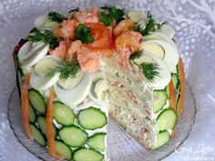 Скандинавский закусочный торт.