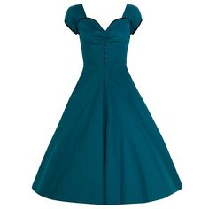 'Bella' Teal Swing Dress