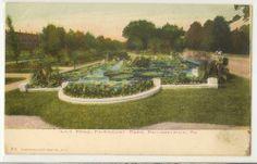 LILY POND Fairmount Park Phil Pa Illustrated Post Card Co. Vintage Postcard