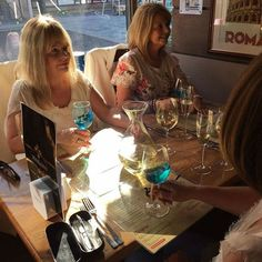 Enjoying Azul Mediterraneo  Blue Chardonnay Wine from Spain now @cafe_mariana  #Azul #blue #bluewine #vino #spain #spain #natural #chardonnayallday #chardonnay #chardonnayday #azulmediterraneo #wine #winetasting #winetime #winelover #cafemariana