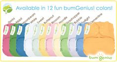 Bumgenius Cloth Diapers.. I have them all except the girly colors and Sweet.. I need sweet.