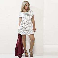 Vestido branco com babados Camila Fashion
