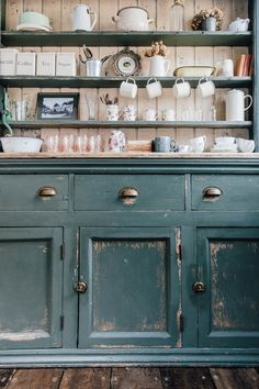 Reclaimed painted distressed dresser