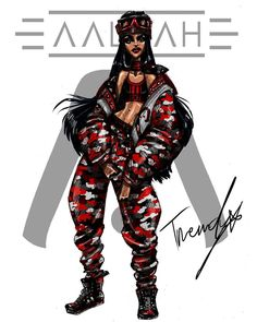 Aaliyah 2018 .3 by TRENDY #aaliyah #aaliyahdanahaughton #aaliyahhaughton #babygirl #TRENDY #2018 #illustration #art