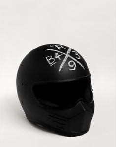 Murdered-out helmet is manly, not sure about the chalkboard surface.