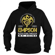 Awesome Tee EMPSON Blood Runs Through My Veins (Dragon) - Last Name, Surname T-Shirt T shirts