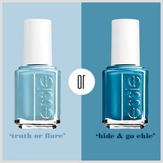 New Essie blues Spring 2014 Mani Pedi, Manicure And Pedicure, Blue Springs, Spring Colors, Essie, Hair And Nails, Hair Makeup, Perfume Bottles, Make Up