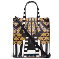 Givenchy 'Stargate' small Egyptian print tote ($1,120) ❤ liked on Polyvore featuring bags, handbags, tote bags, saffiano leather tote, givenchy tote bag, structured handbags, givenchy tote and tote purses