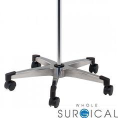 Techno-Aide - BIV-80 - 2 Hook Iv Pole With Twist Lock 5-Leg Base