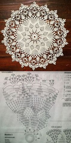Terrific Photo Crochet Doilies chart Suggestions Although most of the doilies that you see in stores today are produced from paper or machine lace, y - potluck dishes Free Crochet Doily Patterns, Crochet Doily Diagram, Crochet Circles, Crochet Motif, Crochet Designs, Crochet Round, Crochet Coaster, Diy Crafts Crochet, Crochet Home