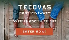 15 winners! - Enter the Wide Open Country Tecovas Boot Giveaway for your chance at over $1,000 in Tecovas prizes. http://virl.io/NCcObOXh