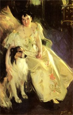 Mrs Bacon, 1897Anders Zorn - by style - Art Nouveau (Modern)