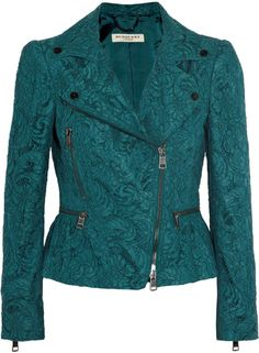 BURBERRY Cotton blend Lace Jacket - Lyst