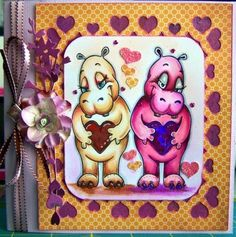 Beccy's Place - Wild About You Set Heart Cards, Digital Image, Valentines Day, Places, Animals, Valentine's Day Diy, Animales, Animaux, Animal