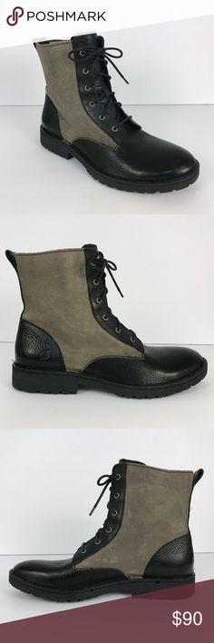 BORN Allen boots Born Allen men's boots sz 9.5 Black with dark tan Born Shoes Boots