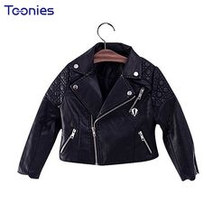 137e0a270 NEW 2017 Spring winter Baby Kids Motorcycle Jackets Thicken PU ...