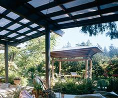Pitched Roof Attached Pergola Plans Patio And