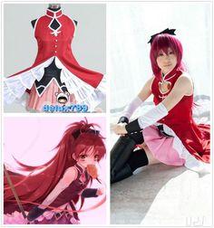 Puella Magi Madoka Magica Kyoko Sakura Cosplay Costume Free Shipping