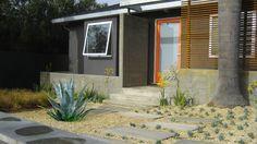 "Modern Exterior Photos Gray Exterior Modern ""orange Door"" Design, Pictures, Remodel, Decor and Ideas"