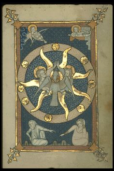 Image of Rothschild Canticles (f. 90r): Trinity.