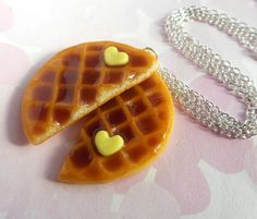 polymer clay best friend round waffle by ScrumptiousDoodle on Etsy