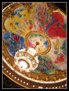 Marc Chagall Chandelier, Opéra Garnier, Paris IX  We bought a framed piece of art on our 20th anniversary cruise to Alaska - 7/12/13 now I've seen it in person