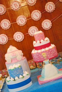 cinderella party - some cute ideas  Like the bipity boppity boo sign in the background. Cute idea.