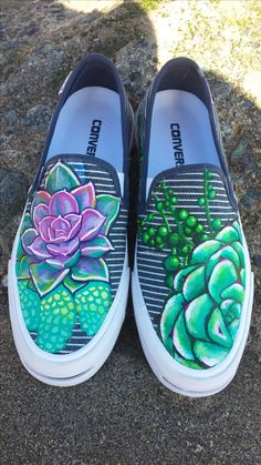 available at BornAtNight.com! succulent custom painted shoes!