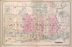 Goad's Atlas of the City of Toronto: Fire Insurance Maps from the Victorian Era: 1884 Toronto Fire Insurance Map