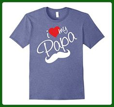 Mens I love my Papa T-shirt gift for Fathers day  XL Heather Blue - Holiday and seasonal shirts (*Amazon Partner-Link)
