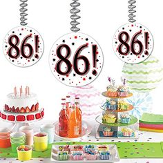 87 DANGLER * You can find out more details at the link of the image. (This is an affiliate link) 90th Birthday Parties, Party Tableware, Program Design, Party Planning, Party Supplies, Health And Beauty, Place Card Holders, Holiday Decor, Ceiling Height