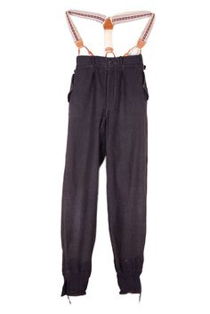 1930's french sport wool pants