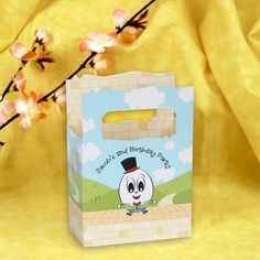 Humpty Dumpty Nursery Rhyme - Mini Personalized Birthday Party Favor Boxes $0.99