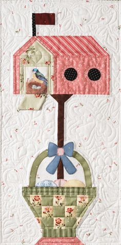 An idea for the quiet book. A loose flap and holes for the bird to come in and go out. how nice!