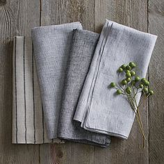 Set of 4 Suits Linen Cloth Dinner Napkins | Crate and Barrel