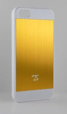 TS iPhone 5 Case Hülle Schutzhülle Cover Etui - Alu gebürstet GOLD mit weißem Rahmen von TS Management, http://www.amazon.de/dp/B00AACXQ1I/ref=cm_sw_r_pi_dp_isg1qb1M7NV87
