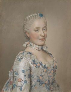 Portret van Marie Josèphe van Saksen (1731-67), dauphine van Frankrijk, Jean-Etienne Liotard, 1749