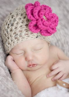 Baby Girl Newborn Hat beanie You pick color and by Sebastianseven, $30.00