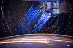 NASA Expedition 31 star trail composite