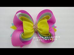 DIY Laço Coração #JéssicaMagalhãis #Diy Ribbon bow - YouTube Handmade Hair Bows, Diy Hair Bows, Diy Bow, Diy Ribbon, Ribbon Bows, Ribbon Hair, Rose Crafts, Flower Crafts, Hair Bow Tutorial