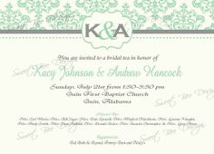 Bridal Shower Invitation Baby Shower by SweetBeeDesignShoppe, $12.00