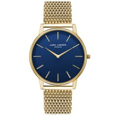 LW47 · Mens watch · Gold watch with blue dial