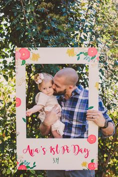 Photo Frames CrowdSigns - Photobooth Props - A Vintage Chic Pi Day Themed Birthday Party Diy 1st Birthday Decorations, Boys 1st Birthday Party Ideas, 1st Birthday Photoshoot, Girl Birthday Themes, 1st Birthday Girls, First Birthday Parties, Birthday Gifts, Happy Birthday, Party Photo Frame