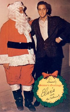 """Season's Greetings from Elvis [Presley] and The Colonel [Tom Parker],"" Christmas Card, 1965"