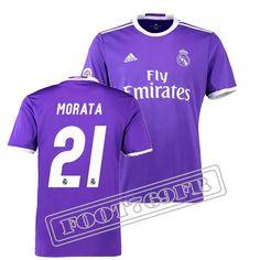 Nouveau Maillot Morata 21 Real Madrid Homme Violet 2016 2017 Exterieur : La Liga
